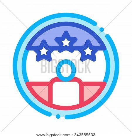 Voter Winner Icon Vector. Outline Voter Winner Sign. Isolated Contour Symbol Illustration