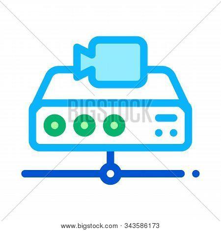 Digital Camcorder Icon Vector. Outline Digital Camcorder Sign. Isolated Contour Symbol Illustration