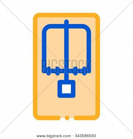 Mousetrap Above View Icon Vector. Outline Mousetrap Above View Sign. Isolated Contour Symbol Illustr