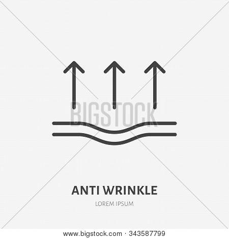 Elasticity Line Icon, Vector Pictogram Of Elastic Material. Skincare Illustration, Anti Wrinkle, Fac