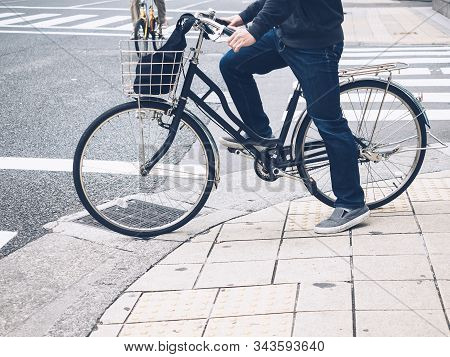 People Riding Bicycle City Lifestyle Bike To Work
