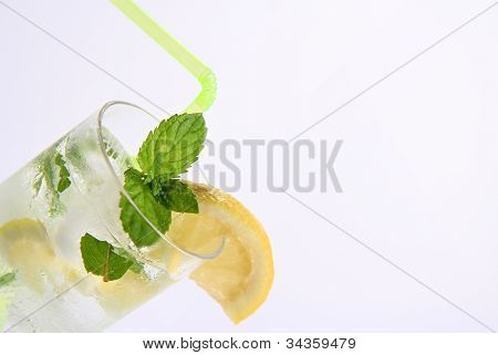 Detail Of White Rum Mojito Cocktail