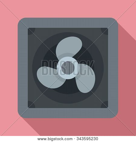 Rotor Blade Fan Icon. Flat Illustration Of Rotor Blade Fan Vector Icon For Web Design