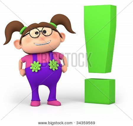 Girl With Exclamation Mark