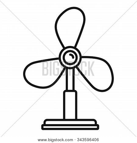 Cooling Fan Icon. Outline Cooling Fan Vector Icon For Web Design Isolated On White Background