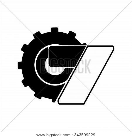 Gear Icon, Vector Icon. Gear Icon On A White Background. Trendy And Modern Icons. Symbol For Gaphic.