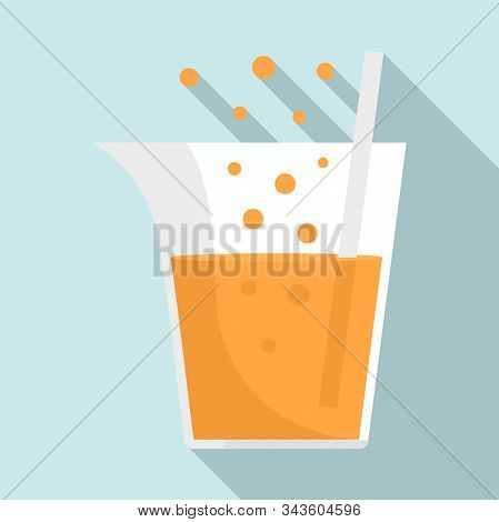 Boiling Chemical Pot Icon. Flat Illustration Of Boiling Chemical Pot Vector Icon For Web Design