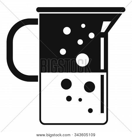 Boiling Lab Jug Icon. Simple Illustration Of Boiling Lab Jug Vector Icon For Web Design Isolated On