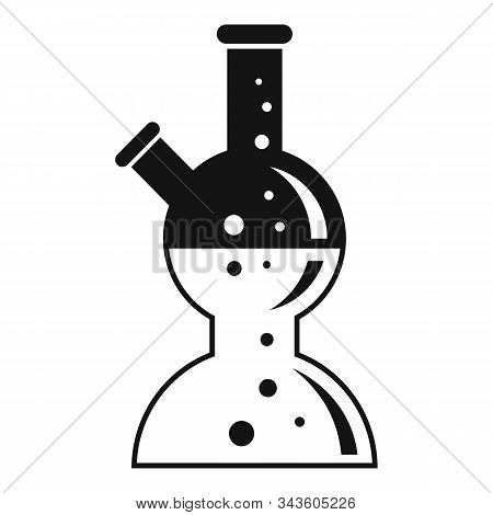 Boiling Lab Pot Icon. Simple Illustration Of Boiling Lab Pot Vector Icon For Web Design Isolated On