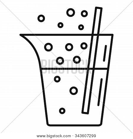 Boiling Chemical Pot Icon. Outline Boiling Chemical Pot Vector Icon For Web Design Isolated On White