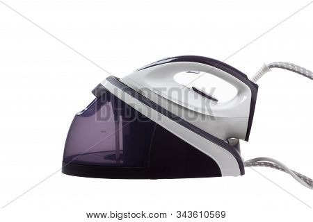Modern Steam Iron Isolated On White Background