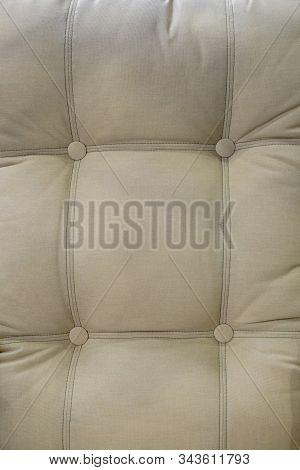 Beige Upholstery Backrest. Beautiful Modern Furniture Upholstery.