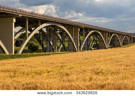 motorway bridge, Spis region, motorway Zilina - Kosice, Slovakia