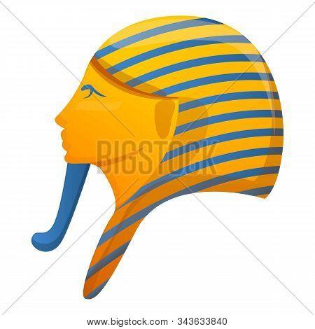 Pharaoh Head Icon. Cartoon Of Pharaoh Head Vector Icon For Web Design Isolated On White Background