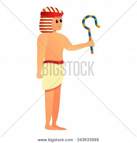 Egypt Pharaoh Servant Icon. Cartoon Of Egypt Pharaoh Servant Vector Icon For Web Design Isolated On