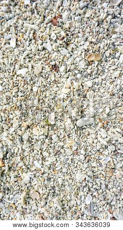 Rough And Uneven. Sand And Stone Surface. Sandy Stone Texture. Gravel Pebble Or Rock Fragments. Ston