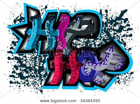 Graffiti sign hip hop