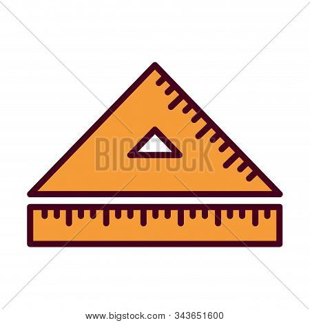 Ruler Design, Instrument Tool Work Measurement Lenght Object Inch Long And Distance Theme Vector Ill