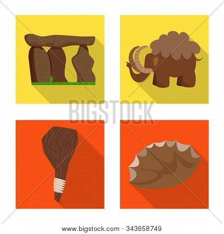 Vector Design Of Evolution And Prehistory Icon. Collection Of Evolution And Development Vector Icon