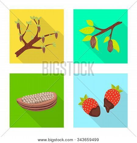 Vector Design Of Treat And Product Icon. Set Of Treat And Yummy Stock Vector Illustration.
