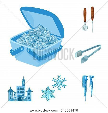 Vector Illustration Of Frost And Water Icon. Set Of Frost And Wet Vector Icon For Stock.