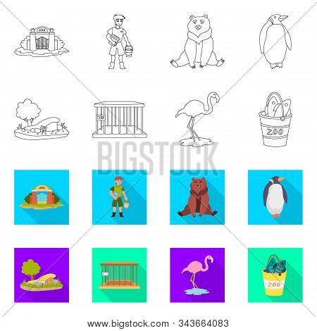 Isolated Object Of Nature And Fun Sign. Collection Of Nature And Entertainment Vector Icon For Stock