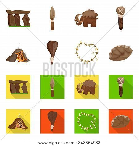 Vector Design Of Evolution And Prehistory Symbol. Set Of Evolution And Development Stock Symbol For