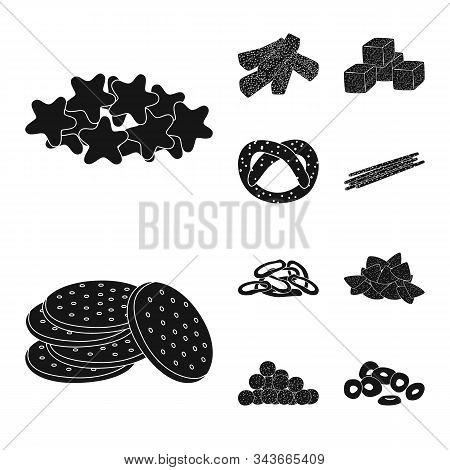 Isolated Object Of Party And Cooking Logo. Set Of Party And Crunchy Stock Vector Illustration.