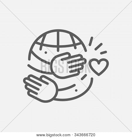 Hugging Day Icon Line Symbol. Isolated Vector Illustration Of Icon Sign Concept For Your Web Site Mo