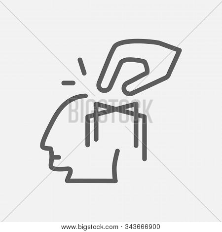 Manipulation Of Man Icon Line Symbol. Isolated Vector Illustration Of Icon Sign Concept For Your Web