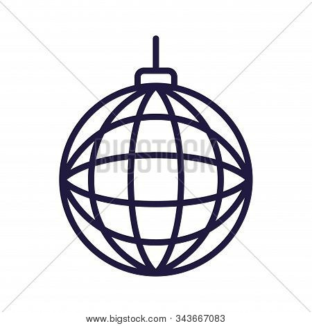 Sphere Design, Disco Party Dance Music Sound Nightlife Nightclub Entertainment And Club Theme Vector