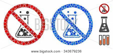 No Chemical Reaction Mosaic Of Round Dots In Different Sizes And Color Hues, Based On No Chemical Re