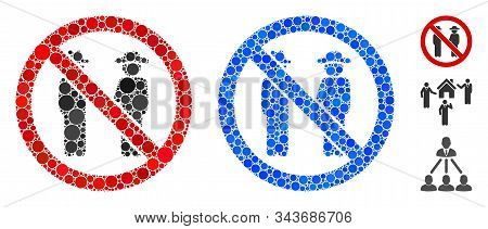 No Gentlemen Composition Of Small Circles In Various Sizes And Color Hues, Based On No Gentlemen Ico