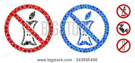 Do Not Litter Composition Of Small Circles In Various Sizes And Color Tones, Based On Do Not Litter