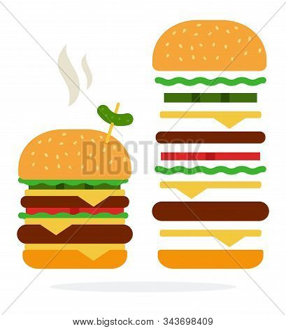 Double Burger With Steam Cheese And Beef And Recipe Of Double Burger