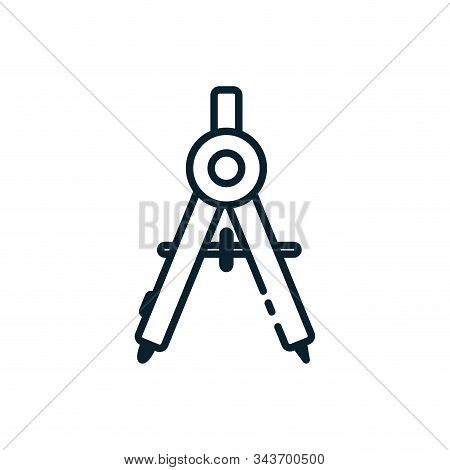 Measuring Compass Design, Instrument Tool Work Measurement Lenght Object Architecture And Distance T