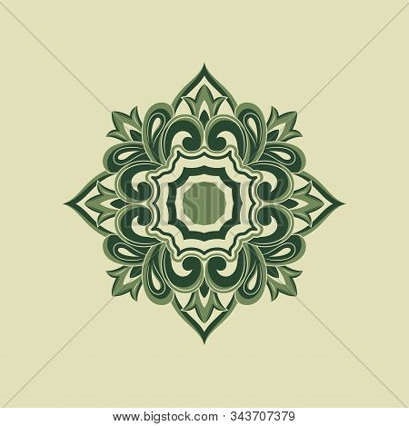 Save Download Preview Flower Ornament Frame Green Vintage Pattern, Frame Ornament Frame Ornament, Fr