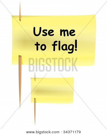 Post-it Note Like Flag