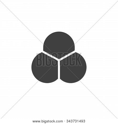 Ozone Molecular Structure Vector Icon. Filled Flat Sign For Mobile Concept And Web Design. O3 Chemic