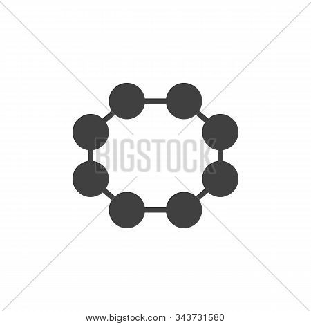 Rhombic Sulfur Molecular Geometry Vector Icon. Filled Flat Sign For Mobile Concept And Web Design. R