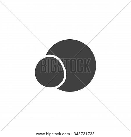 Hydrogen Chloride Structure Vector Icon. Filled Flat Sign For Mobile Concept And Web Design. Hydroge
