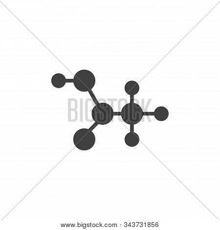 C2h4o2 Molecular Formula Vector Icon. Filled Flat Sign For Mobile Concept And Web Design. Acetic Aci