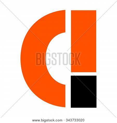 Ci, C! Initial Geometric Company Logo And Vector Icon