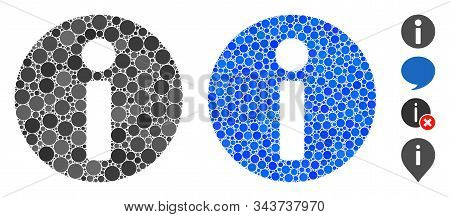 Info Composition Of Circle Elements In Variable Sizes And Color Hues, Based On Info Icon. Vector Cir
