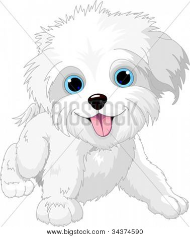 Illustration of Cute Playful lap-dog