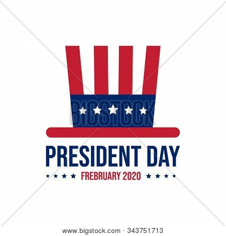 Happy President Day February Design Vector