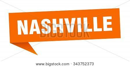 Nashville Sticker. Orange Nashville Signpost Pointer Sign