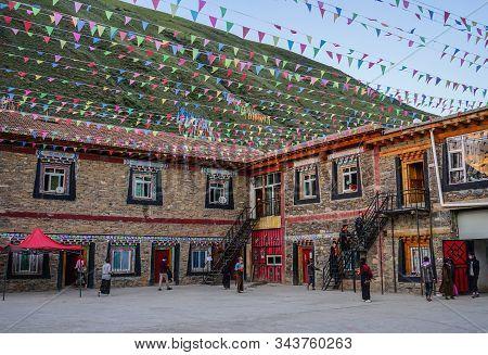 Tibetan School In Garze Tibetan, China