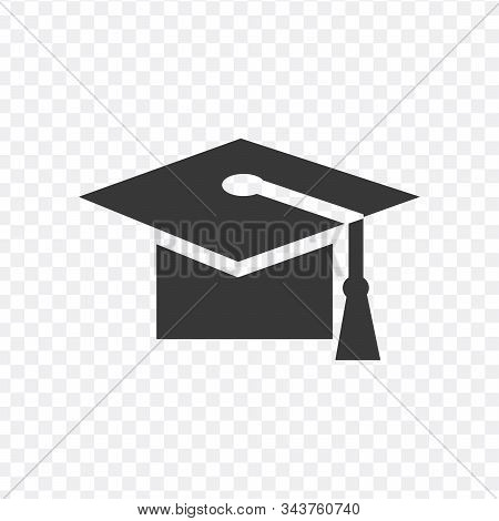 Graduation Cap Icon. Stock Vector Illustration Isolated On White Background.