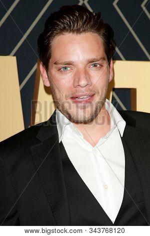 LOS ANGELES - JAN 4:  Dominic Sherwood at the Showtime Golden Globe Nominees Celebration at the Sunset Tower Hotel on January 4, 2020 in West Hollywood, CA